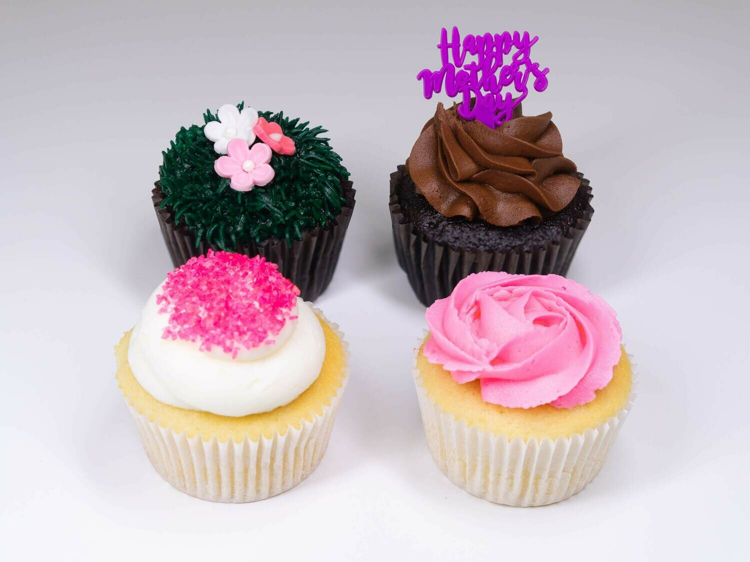 Mother's Day 4 Pack Cupcakes