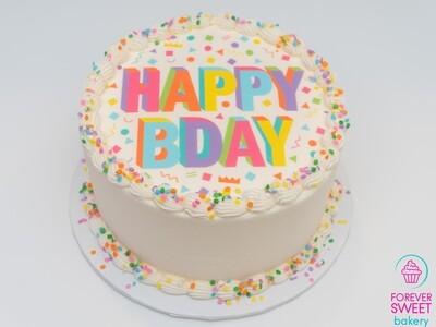 Happy BDay Image Cake
