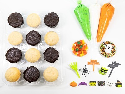 Halloween DIY Cupcake Decorating Kit