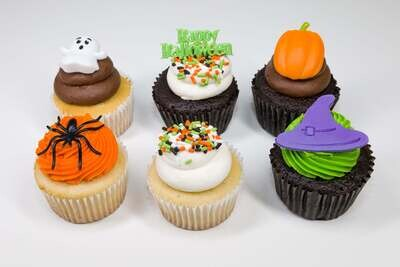 Halloween 6 Pack Cupcakes