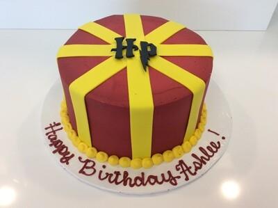 Harry Potter Fondant Crossed Stripes Cake