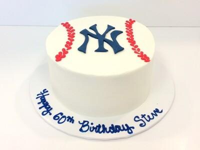 Yankees Baseball Seams Cake