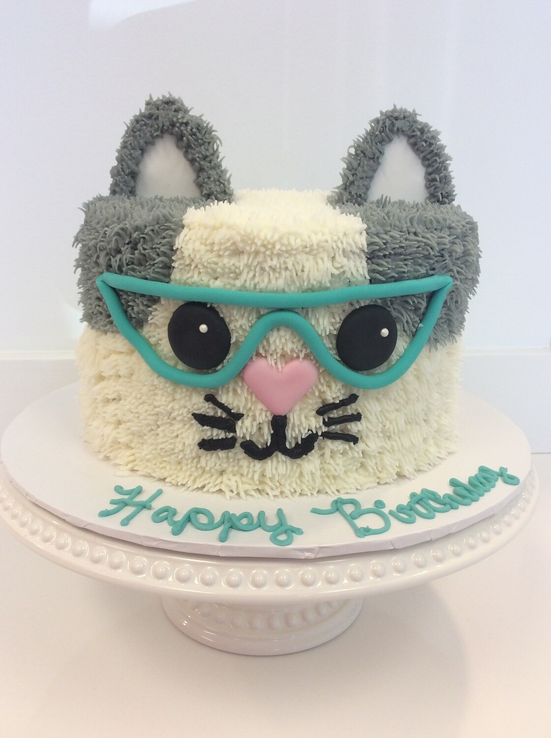 Cat Face with Glasses Cake