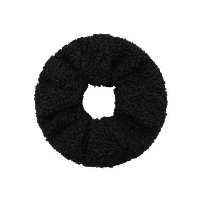 Teddy scrunchie zwart
