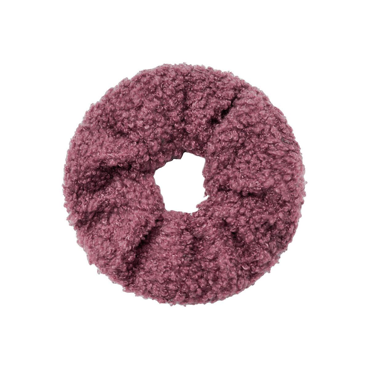 Teddy scrunchie donker roze