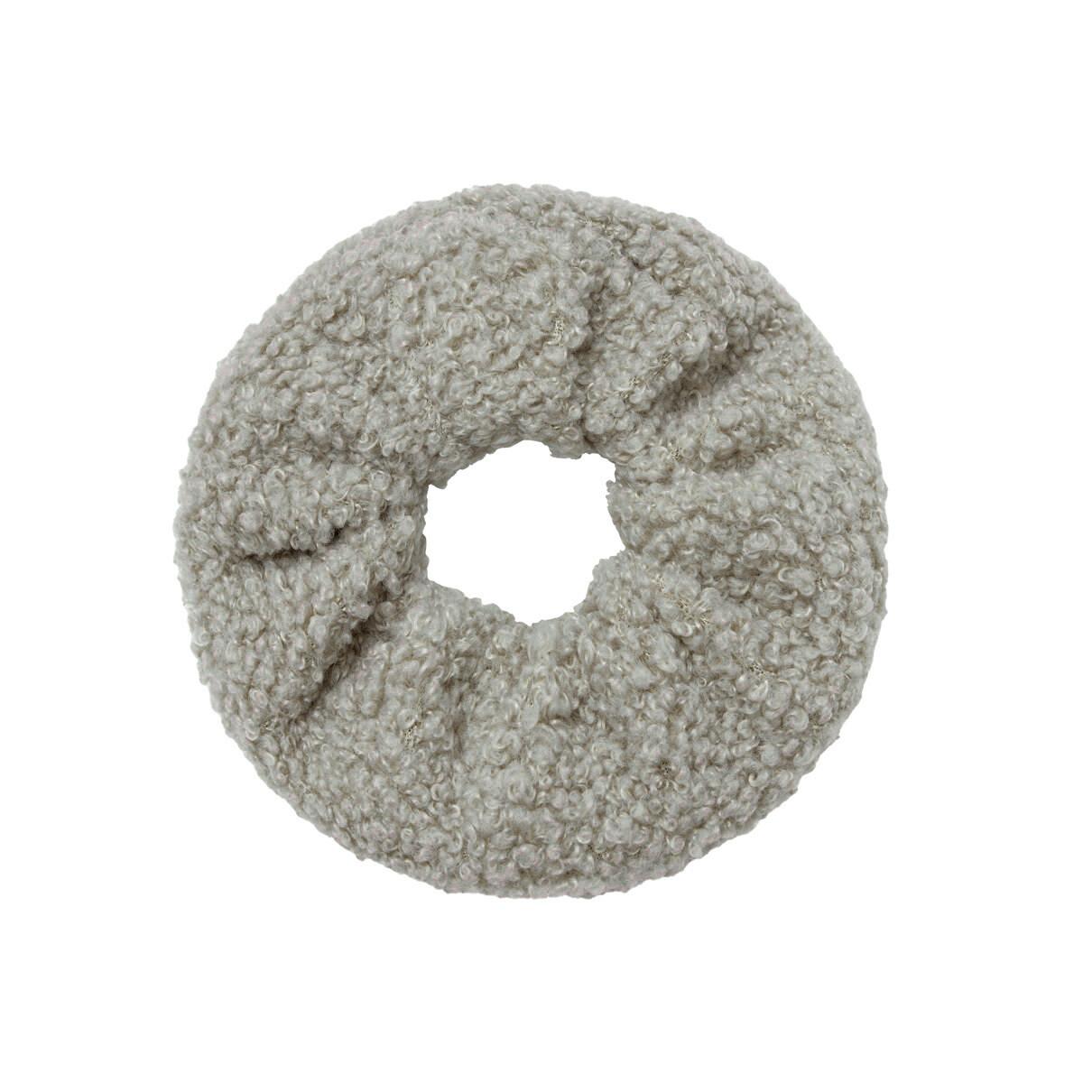 Teddy scrunchie grijs