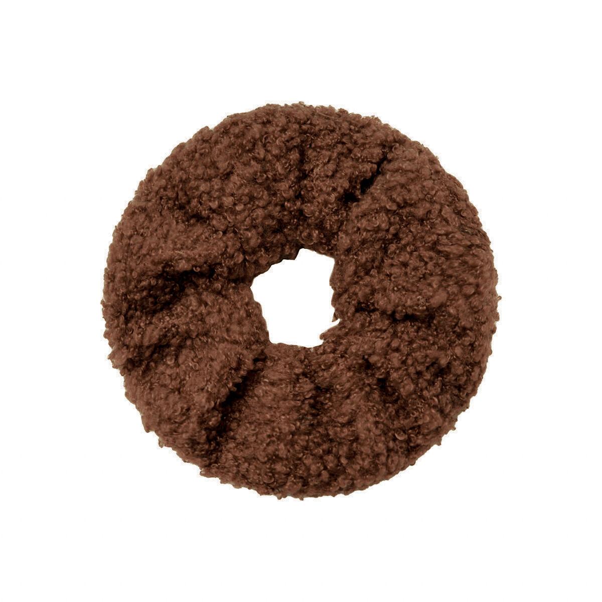 Teddy scrunchie bruin