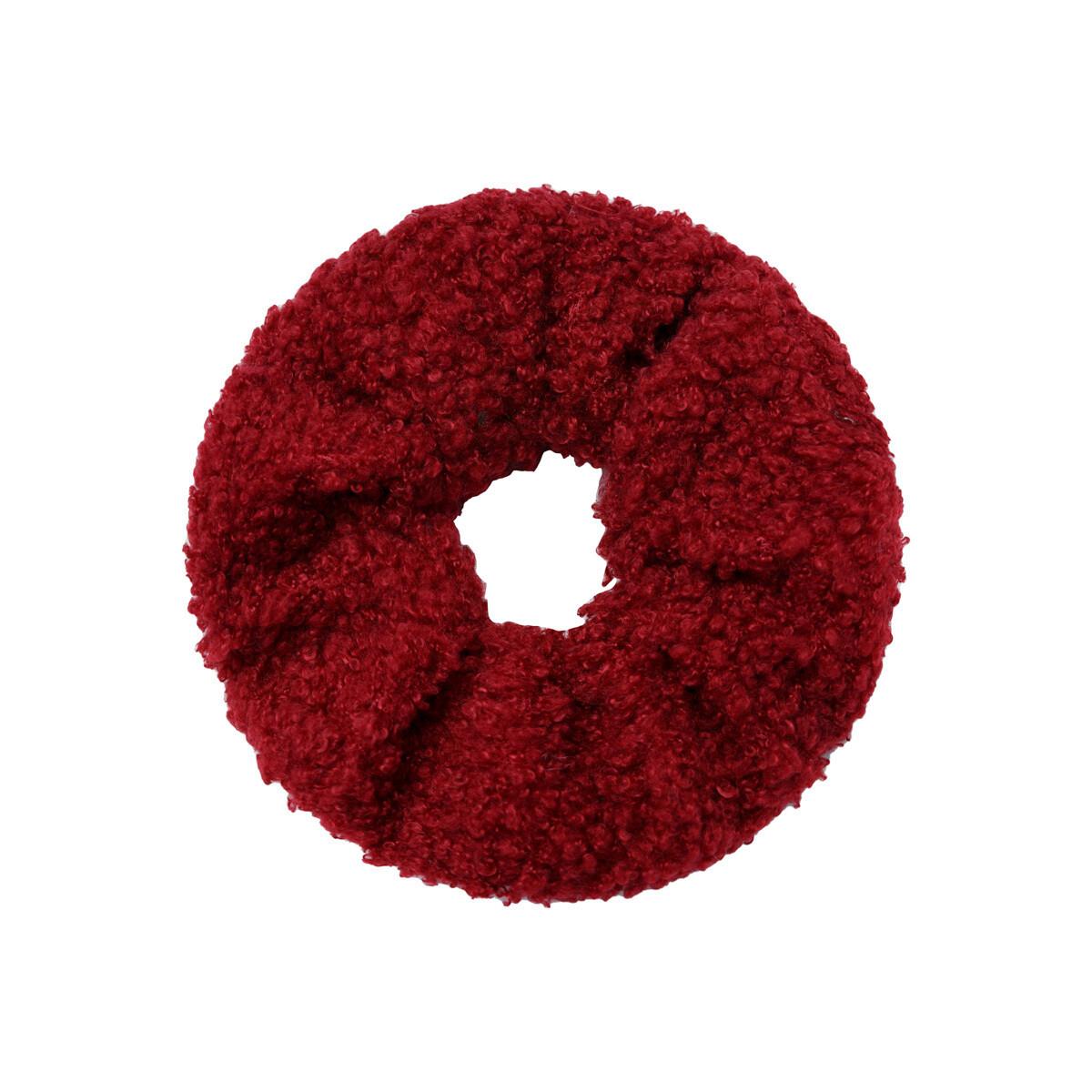 Teddy scrunchie rood