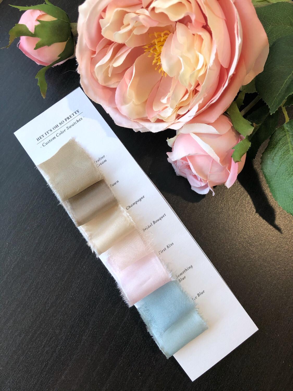 Sample Swatches | Silk Ribbon | 100% Silk