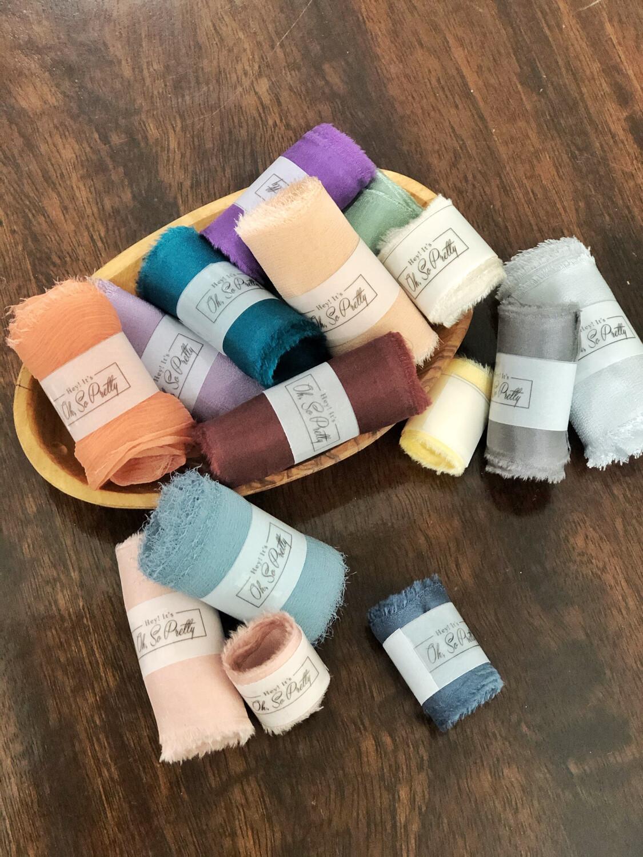 Silk Ribbon Grab Bag | 100% Silk | Styling ribbon