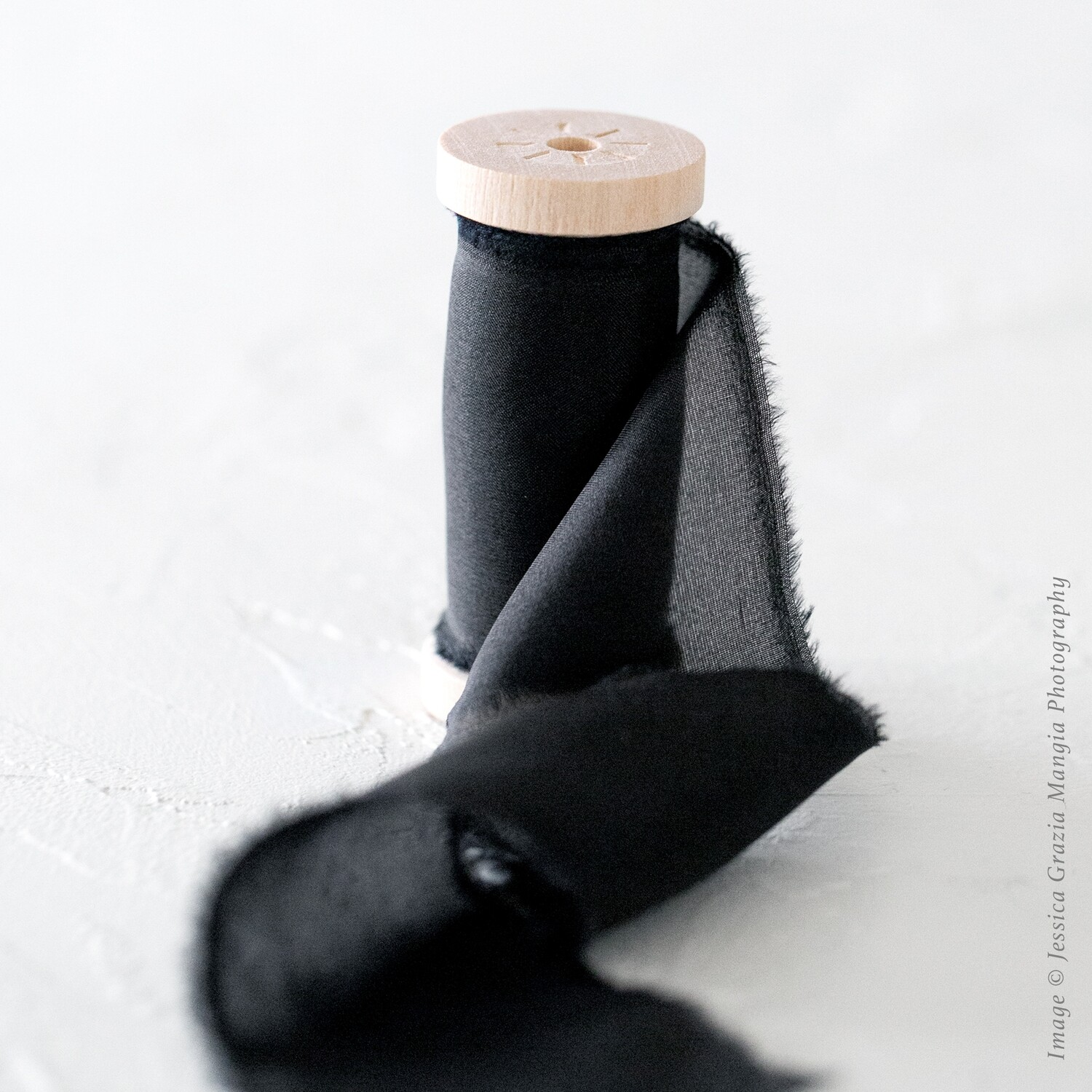 Black | Classic Silk Ribbon | 100% Silk