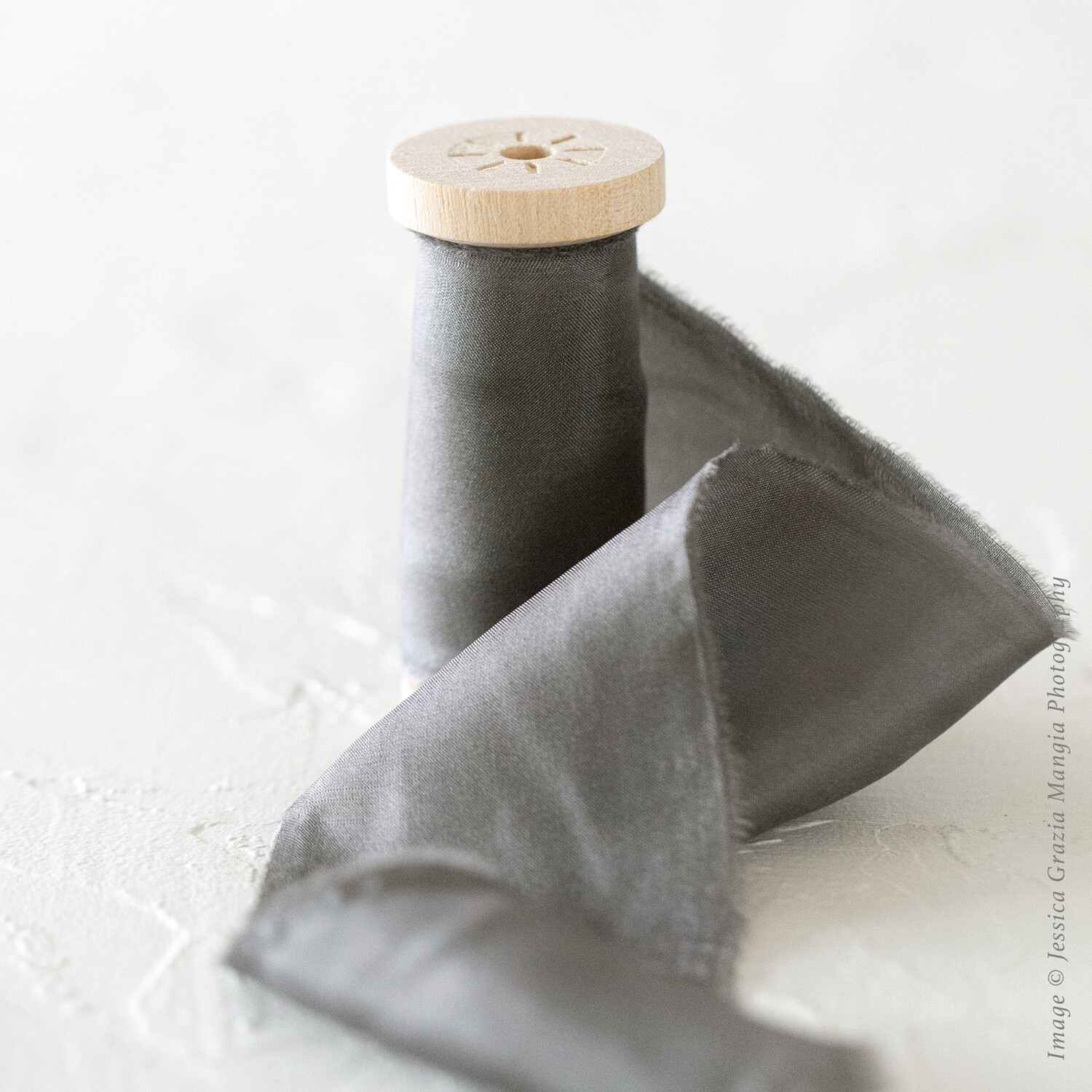 Stone Gray | Classic Silk Ribbon | 100% Silk
