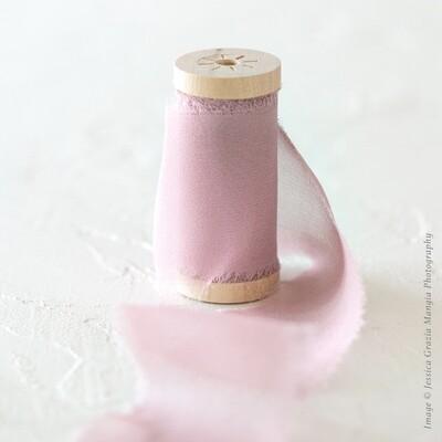 Mauve | Cheer Silk Ribbon | 100% Silk Chiffon