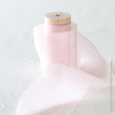 Cotton Candy | Crinkle Silk Ribbon | 100% Silk Chiffon