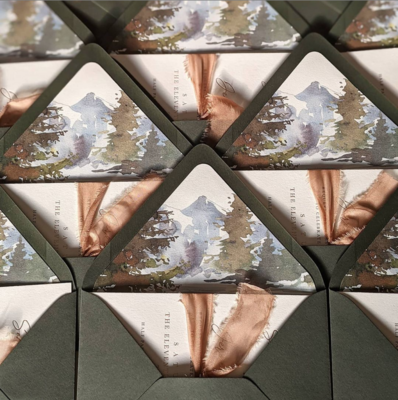 Pre-Cut My Ribbon | Invitation Silk ribbon add on