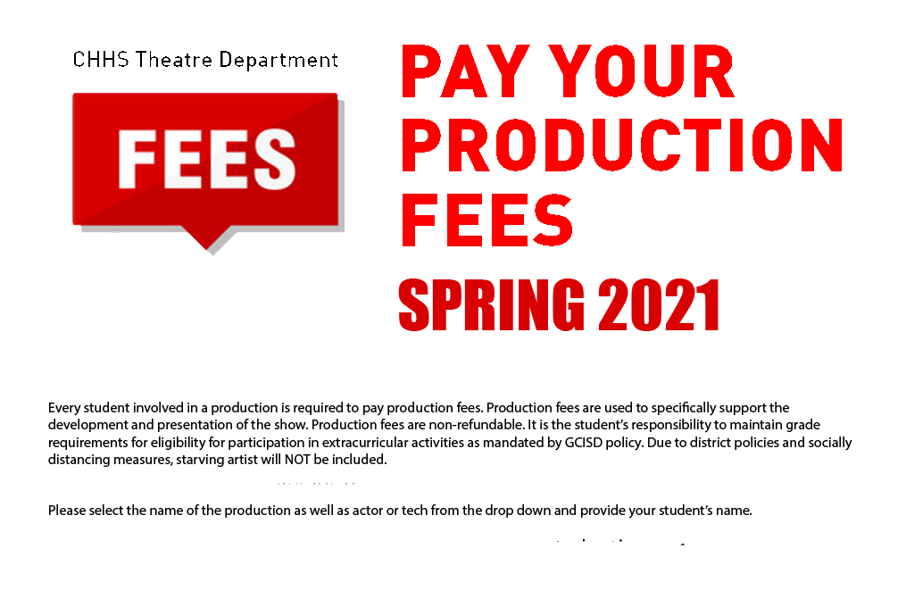 Production Fees - Spring 2021