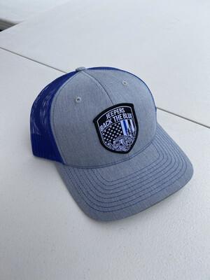 Snapback Hat | Heather Gray/Blue