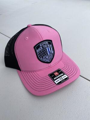 Snapback Hat | Neon Pink/Black