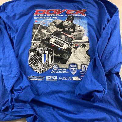 2020 Blue Long Sleeve Tshirt - 3XL