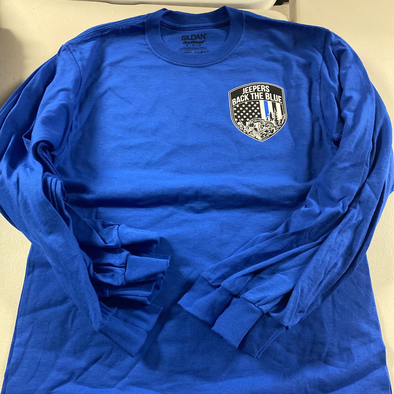 2020 Blue Long Sleeve Tshirt - Medium
