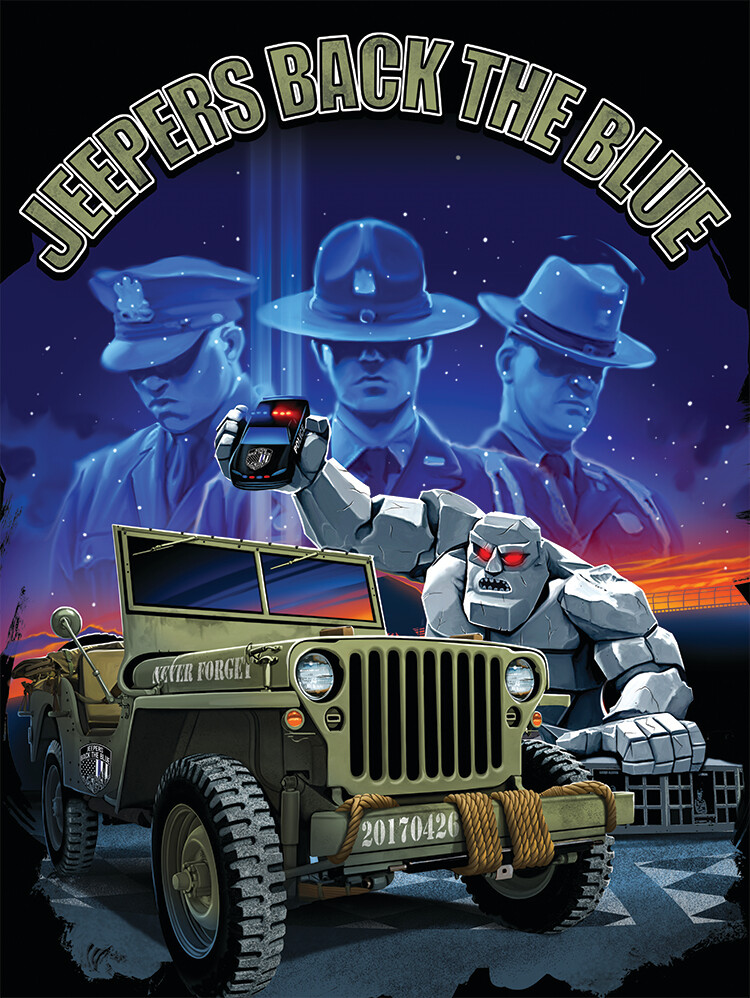 Jeepers Back the Blue Poster