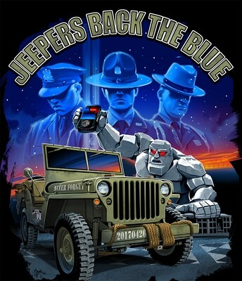 Jeepers Back the Blue Vinyl Banner