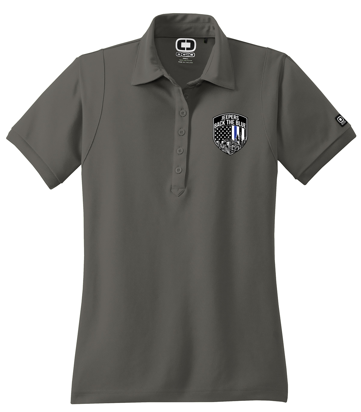 Jeepers Back the Blue Womens Polo