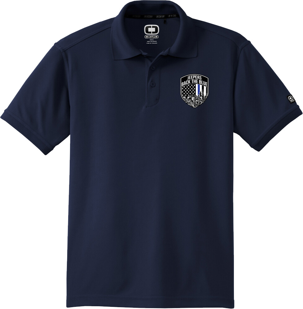Jeepers Back the Blue Mens Polo