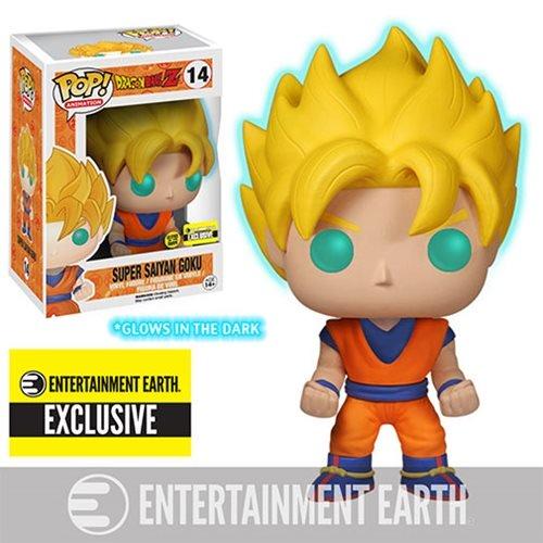 Dragon Ball Z Glow-in-the-Dark Super Saiyan Goku Pop! Vinyl Figure - Entertainment Earth Exclusive