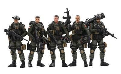 JOY TOY PLA ARMY ANTI-TERRORISM UNIT 1/18 FIGURE 5PK