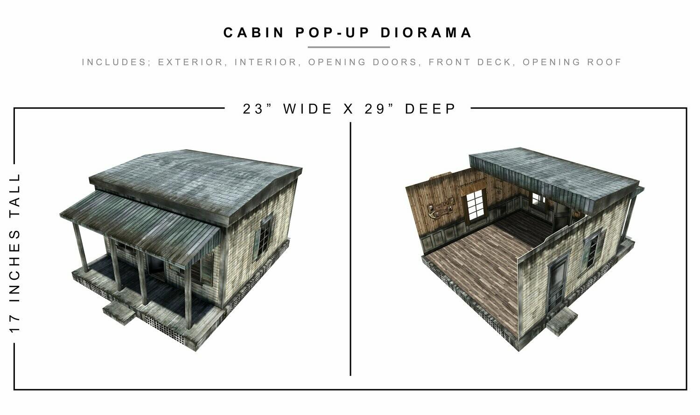 CABIN POP-UP DIORAMA 1/12 Scale