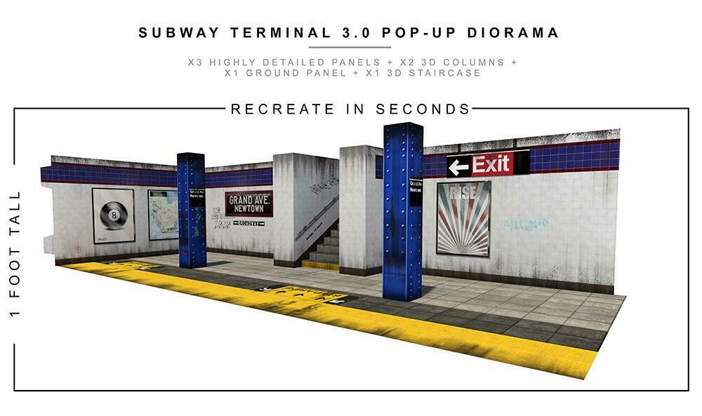 SUBWAY TERMINAL 3.0 POP-UP DIORAMA 1/12 scale