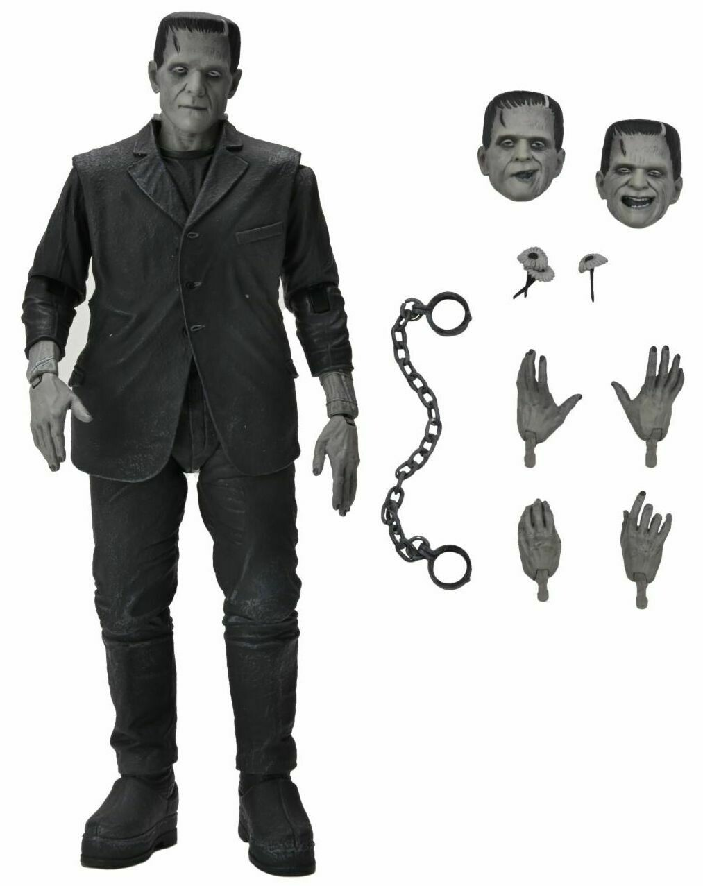"Universal Monsters - 7"" Scale Action Figure - Ultimate Frankenstein's Monster (Black & White)"