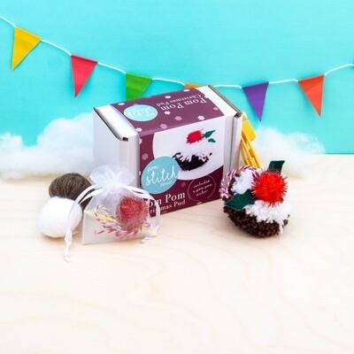 Pom Pom Christmas Pudding Kit