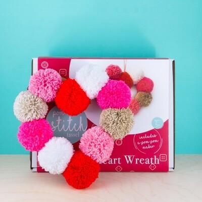 Pom Pom Heart Wreath Kit