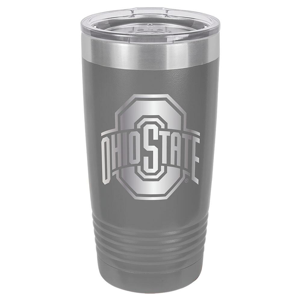 Ohio State Athletic Logo - Gray 20oz Beverage Tumbler with Lid
