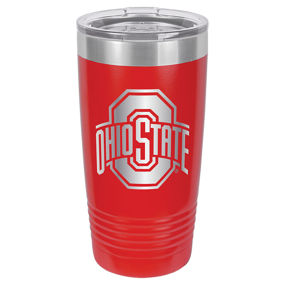 Ohio State Athletic Logo - Red 20oz Beverage Tumbler with Lid
