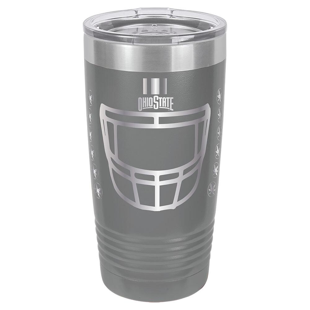 Ohio State Helmet Logo - Gray 20oz Beverage Tumbler with Lid
