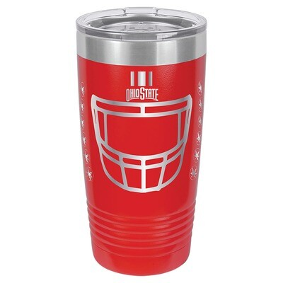 Ohio State Helmet Logo - Red 20oz Beverage Tumbler with Lid