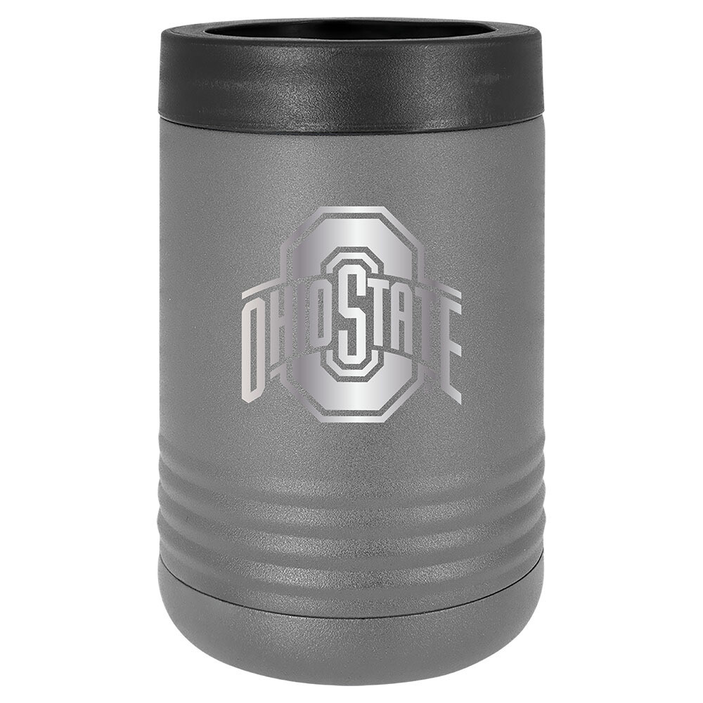 Ohio State Athletic Logo - Gray Stainless Steel Beverage Holder