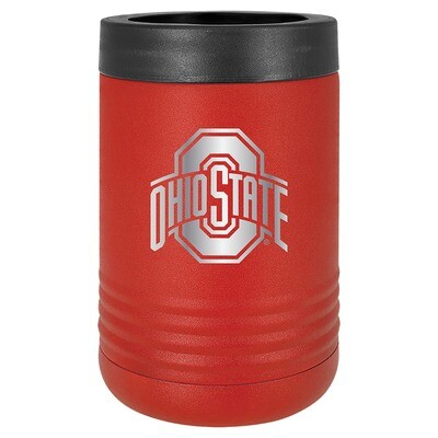 Ohio State Athletic Logo - Red Stainless Steel Beverage Holder