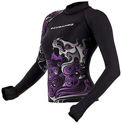 Rash Guard,  Crimp, Women's, Black/Purple