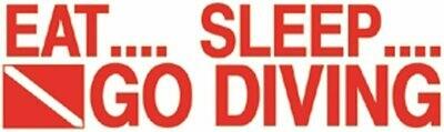 Eat/Sleep/Dive Sticker