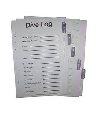 Log Book Sheets with tab inserts