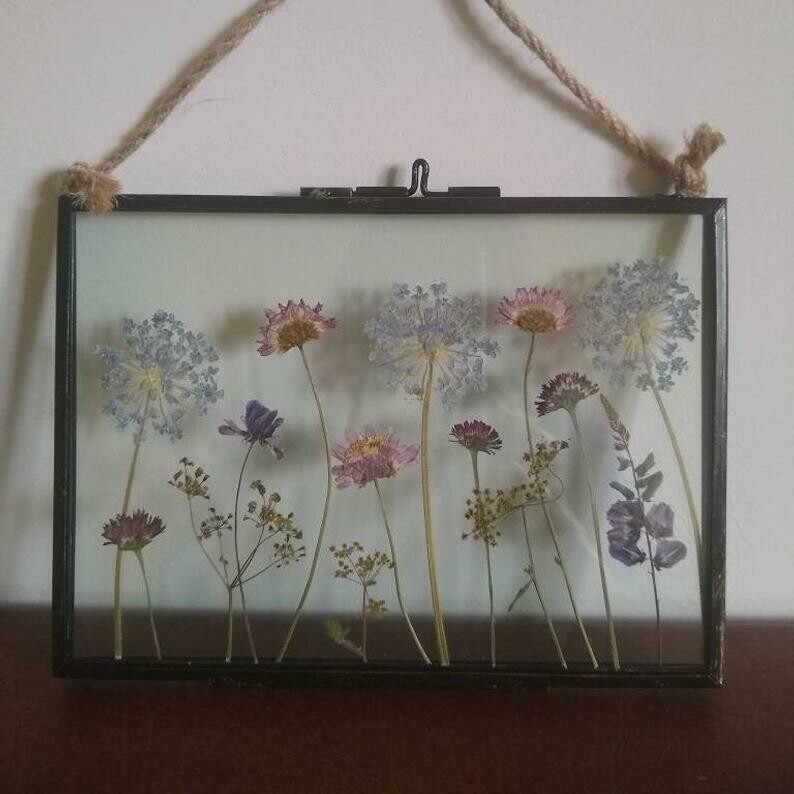 Blue Lace Flower Frame 7 x 5 inches