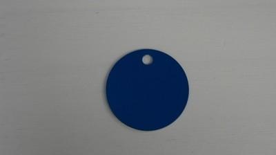 Médaille ronde bleu