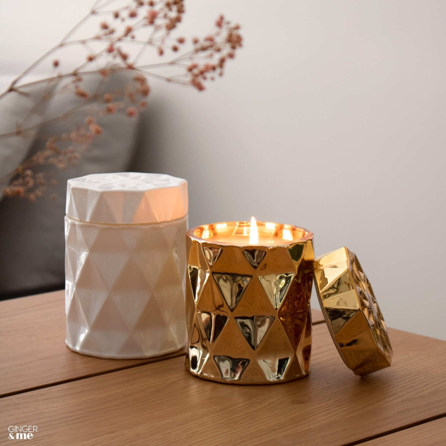 Be Happy Candle - Gold