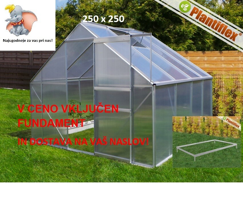 Rastlinjak - Plantiflex® 250x250 cm