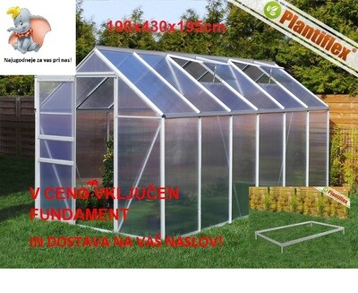 Plantiflex® Rastlinjak 190 x 430 cm