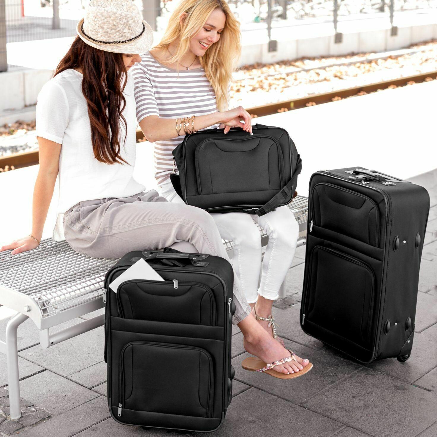 4-delni komplet potovalnih kovčkov -  torb